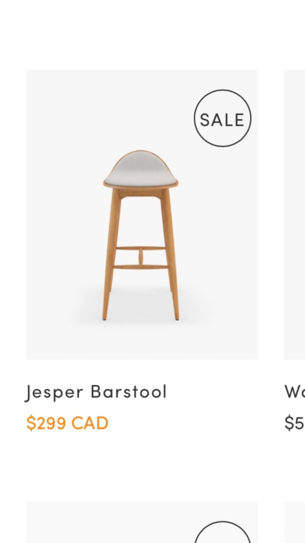 Two brand new in box barstool from rove concept