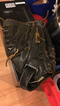 pair of black leather work boots Vancouver, V6N 2S6