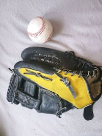 Baseball glove brand sportime color yellow and black. Glove is size 10 Queens, 11375