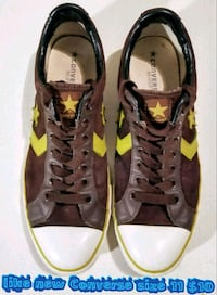 pair of brown-and-green Coach sneakers Las Vegas, 89169