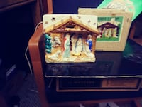 ANTIQUE NATIVITY T.V. LAMP RELCO CREATION Barberton