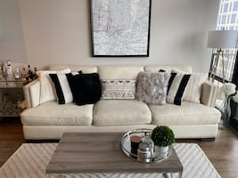 Living Spaces Ivory Couch