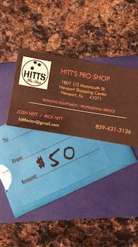 $50 gift card to Hitt's Pro shop bowling located in Newport KY