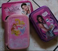 due zaini Disney Princess rosa e viola Province of Caserta