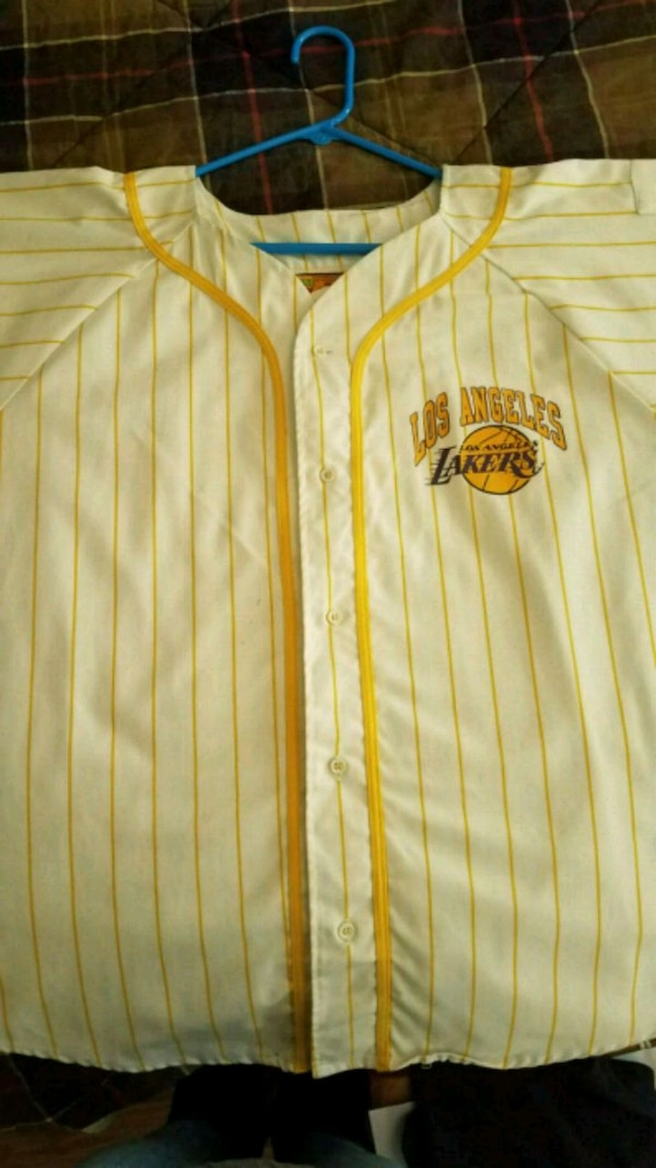 70a6cd512 Used Vintage throw back lakers baseball jersey for sale in Lake Forest