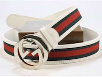 White,green and red gucci belt Toronto, M4H