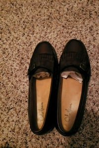 pair of black leather slip on shoes Fairfax, 22030