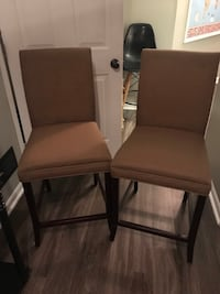 two brown leather padded chairs Enon, 45323