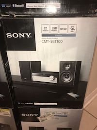 SONY HOME AUDIO SYSTEM  MODEL : CMT-SBT100  Mississauga
