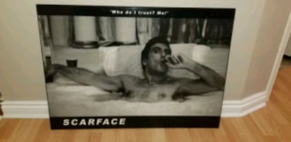 Scarface wood mounted plaque poster
