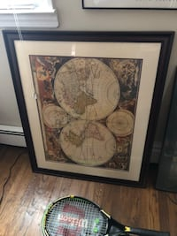 Map picture framed  New York, 11421