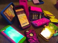 assorted color smartphone lot