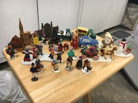 assorted plastic toy collection with box 2175 mi
