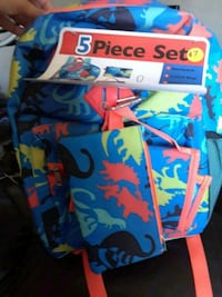 5pc backpack new 2391 mi