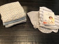 1 x 4Moms Bath 2 x 'Swaddle Me' Blankets (NEW) & 4 x Blankets (NEW) Chino, 91710