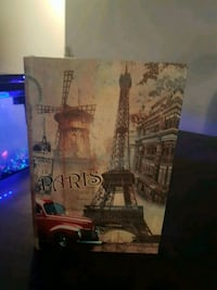 Paris book end . Opens up to a box as well.  Surrey, V3S 1R8