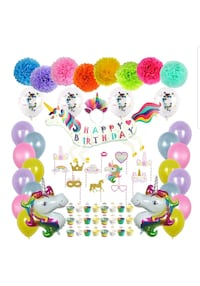 Unicorn Birthday Party Decorations and tableware Concord