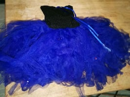 Blue and black knit cap