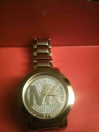 round silver Michael Kors analog watch with link bracelet Fort Myers, 33905