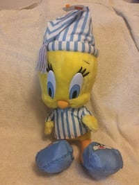 Jumbo Tweety Bird Plush in Pajamas Looney Tunes Warner Bros Fairfax, 22030