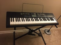 Casio keyboard with stand (barely used) Hyattsville, 20782