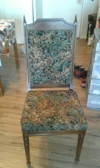 Old solid wood upholstered chair