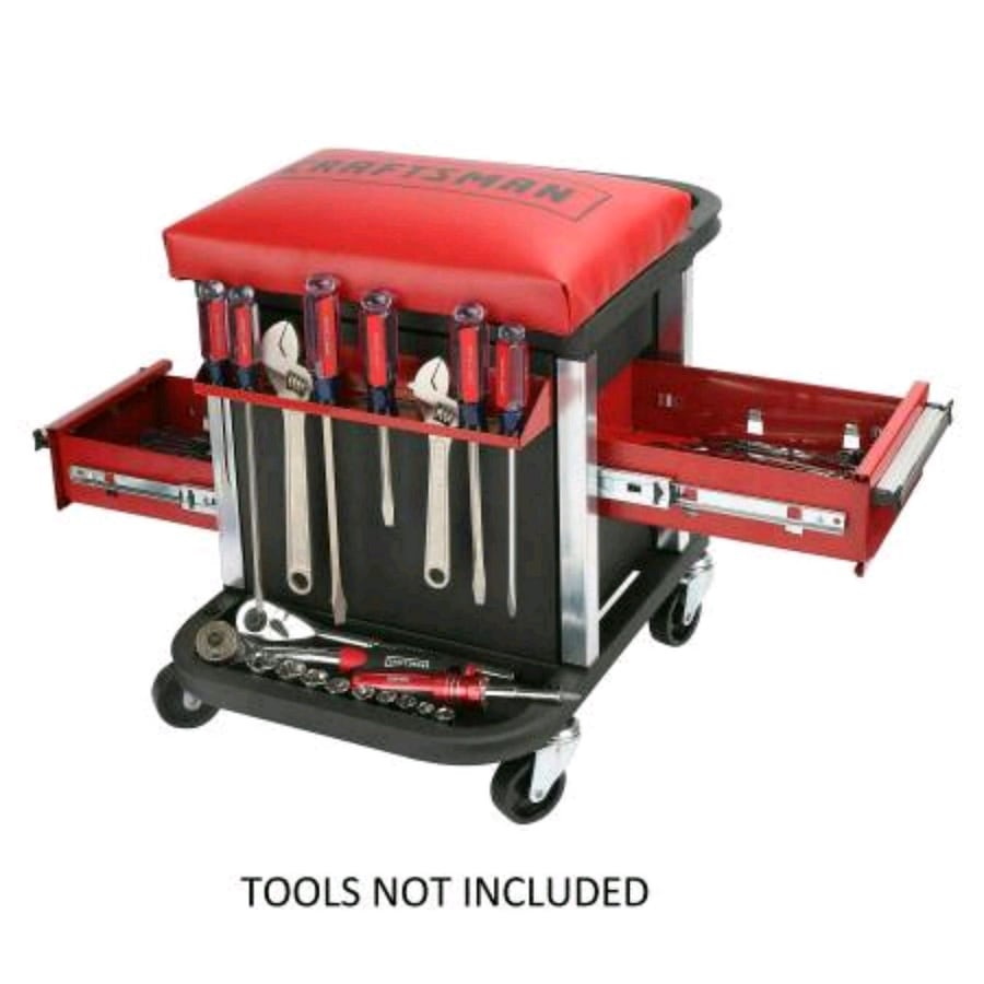 NEW Garage Glider Rolling Tool Chest Seat