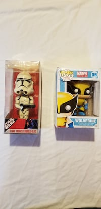 Star Wars/Wolverine toys -- $15 for the pair