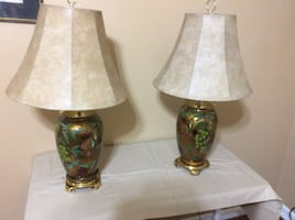 Set of nice lamps with new shades.