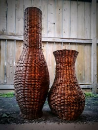 Tall pair of Decorative woven home accents Calgary, T2J 6R1