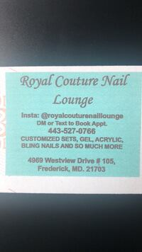 Nails w/ Bling (starts at $75 full set/med length includes some stones) Frederick