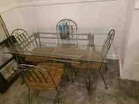 Glass top table w/4 chairs Stonewall, 71078