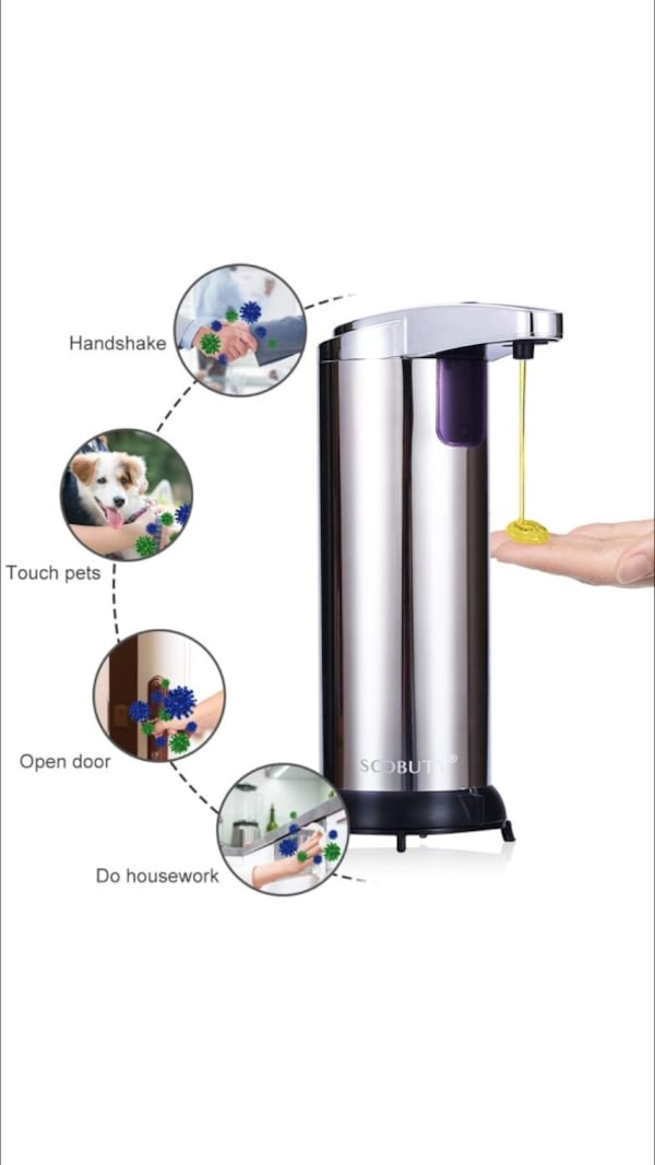 Automatic Soap Dispenser Stainless Steel New - cheaper than Amazon b14ba596-1fa9-4d21-a63c-cc5c19977e80