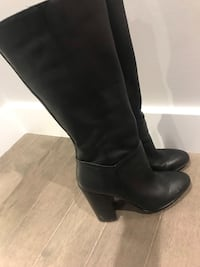 Pair of black leather heeled boots Aldo size 8 Montréal, H1G