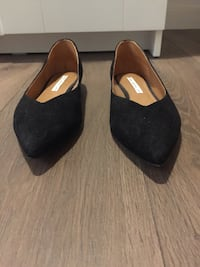 & Other Stories pointed flat shoes, black Barcelona, 08012