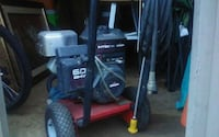 black and gray pressure washer