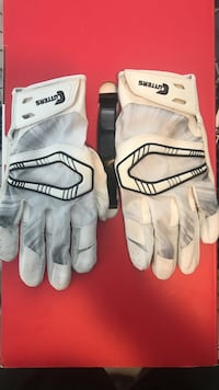 Cutter football gloves all white Alpena, 49707