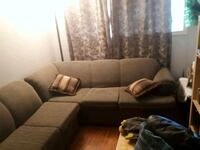 brown fabric sectional sofa with throw pillows Laval, H7N 4M2