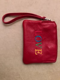 Red leather roots wristlet Toronto, M4P 1Z8