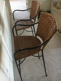 2 brown wicker armchairs Ashburn, 20147