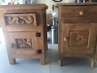 two brown wooden side tables Albuquerque, 87114