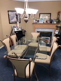 Glass Dining Room Table & Chairs