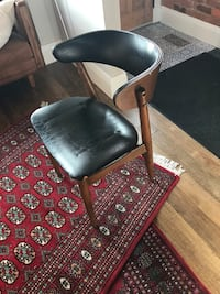Vintage vinyl & wood chairs. I have two Good condition. 45each Toronto, M6J 1R8