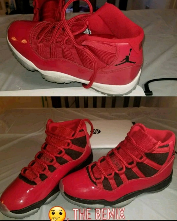 bb12a41ab3cd Used pair of red Air Jordan 11 s for sale in Newark - letgo