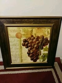 brown wooden framed painting of fruits Lubbock, 79413