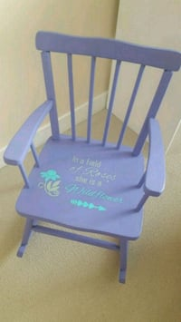 Handmade unique purple wooden rocking chair Coquitlam, V3J