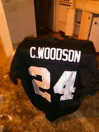 black and white and black NFL jersey Fresno, 93727
