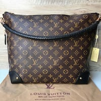 borsa a tracolla in pelle marrone Louis Vuitton Roma, 00165