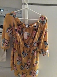 women's pink and black floral blouse Ajax, L1S 0C3