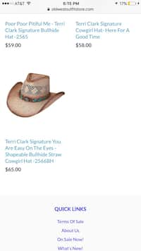 8a31ef4c647 Super cute only used once authentic terri clark cowgirl hat size medium